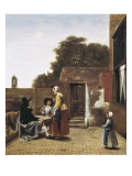 A Dutch Courtyard Prints by Pieter Cornelisz Hoock