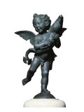 Putto with Dolphin Gicle-tryk af Andrea del Verrocchio