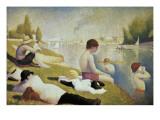 Bathers at Asnières Premium giclée print van Georges Seurat