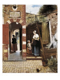The Courtyard of a House in Delft Prints by Pieter Cornelisz Hoock