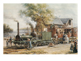 Steamtrain (1850) in New Jersey Premium Giclee Print