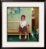 """""""Shiner"""" or """"Outside the Principal's Office"""", May 23,1953 Framed Giclee Print by Norman Rockwell"""