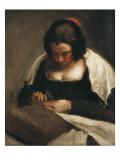 The Needlewoman Gicléedruk van Diego Velázquez