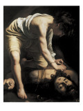 David Victorious over Goliath Poster by  Caravaggio