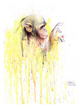 Monkey 11 Reproduction procédé giclée par Lora Zombie