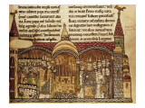 The Pope Urban II Consecrates the Altar of the Church of the Cluny Abbey (1085) Giclee Print