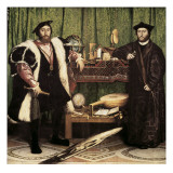 The Ambassadors Planscher av Hans Holbein the Younger