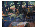 Ford (Running Away) Print by Paul Gauguin