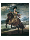Prince Balthasar Carlos on Horseback Gicléedruk van Diego Velázquez