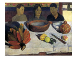 The Meal or the Bananas Prints by Paul Gauguin