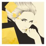 Gold Giclee-tryk i høj kvalitet af Manuel Rebollo