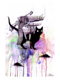 Super Cat Impresso gicle por Lora Zombie