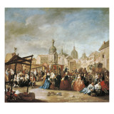 The Madrid Fair in the Plaza De La Cebeda Prints by Manuel De La Cruz Y Cano