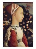 Portrait of Ginevra D'Este Poster af Antonio Pisani Pisanello