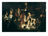 An Experiment on a Bird in the Air Pump Giclee Print by Joseph Wright of Derby