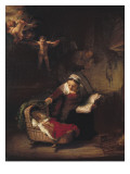 Holy Family Premium Giclee Print by  Rembrandt van Rijn
