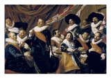 Banquet of the Officers of the Civic Guard of St George Giclée-Druck von Frans Hals
