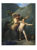 Education of Achilles by Chiron Giclee Print by Jean-Baptiste Regnault
