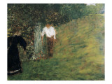 Man and Woman Next to a Tree Posters par Edouard Vuillard