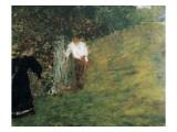 Man and Woman Next to a Tree Poster von Edouard Vuillard