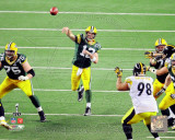 Aaron Rodgers Action from Super Bowl XLV Photo