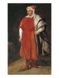Portrait of the Buffoon 'Redbeard', Cristobal De Castaneda Schilderij van Diego Velázquez