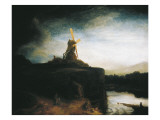 The Mill Premium Giclee Print by  Rembrandt van Rijn