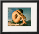 Young Male Nude, 1855 Art by Hippolyte Flandrin