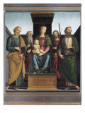 Madonna and Child Enthroned with Saints Prints by Pietro Perugino