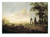 Horsemen and Herdsmen with Cattle Poster by Aelbert Cuyp