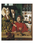 Saint Eligius Goldsmith in His Workshop Premium Giclee Print by Petrus Christus