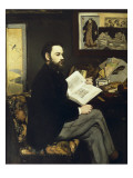 Portrait of Emile Zola Posters by Édouard Manet