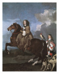 Christina of Sweden on Horseback Prints by Sebastien Bourdon