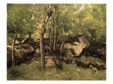 Rocks in the Forest of Fontainebleau Giclee Print by Jean-Baptiste-Camille Corot
