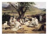 Horace Vernet - Meeting of Arabian Chiefs - Reprodüksiyon