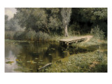 The Overgrown Pond Premium Giclee Print by Vasilij Dmitrievich Polenov