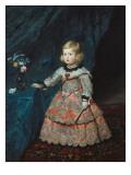 Infanta Margarita Teresa in a Pink Gown Kunst van Diego Velázquez