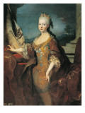 Portrait of Louise-Elisabeth D'Orleans Prints by Jean Ranc