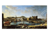 View of the Arsenal, or Dockyard, at Naples in 1703 Giclee Print by Vanvitelli (Gaspar van Wittel)