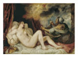 Danae Receiving the Golden Rain Giclee Print by Titian ( Tizano Vecelli)