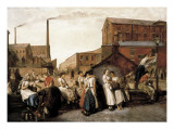 The Dinner Hour, Wigan Giclee Print by Eyre Crowe