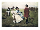 Countryside Day Premium Giclee Print by Jose Cusachs Y Cusachs