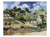 Thatched Cottages at Cordeville, Auvers-Sur-Oise Giclee Print by Vincent van Gogh