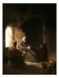Anna and the Blind Tobit Prints by  Rembrandt van Rijn