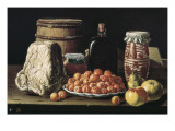 Still Life with Fruits and Cheese Giclee Print by Luís Meléndez O Menéndez