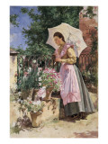 Dame with Umbrella Giclee Print by Isidoro Marin Gares