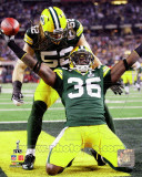 Nick Collins and Clay Matthews celebrate INT Touchdown from Super Bowl XLV Photo