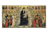 Maest (Madonna with Angels and Saints) Gicle-tryk af Duccio di Buoninsegna