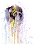 Monkey 4 Giclee Print by Lora Zombie
