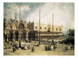 The Square of Saint Mark's, Venice (Piazza San Marco) Premium Giclee Print by  Canaletto